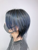stella☆YU グラデーションカラー ブルーバイオレット メンズ