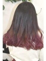 ヘアーサロン エール 原宿(hair salon ailes)(ailes原宿)style309 デザインカラー☆ピンクパープル