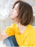 くせ毛風カールインナーカラー抜け感大人ボブe越谷20代30代40代!