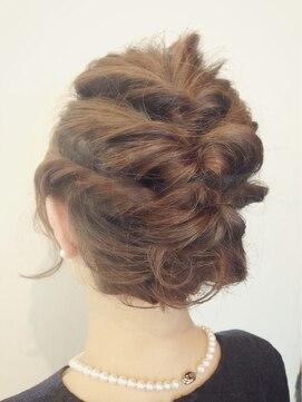 結婚式の髪型 ヘアアレンジ ボブアレンジ☆