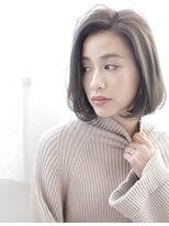 かっこいい女性ショートボブ[mignon]モノトーン系カラー