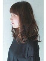 コンビネーション(combination)デジタルパーマスタイル☆ラウンド前髪☆ナチュラルブラウン☆02