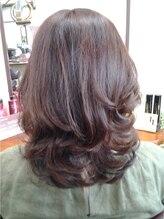 サロン ド アイ ソレイユ(Salon de i Soleil)ナチュラルメッシュのグレイカラー 巻き髪スタイル
