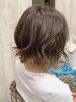 カイナル 関内店(hair design kainalu by kahuna)切りっぱなしボブ×裾カラー