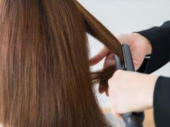 ヘアーサロン フェリチタ(hair salon felicita)の写真/【肌に優しく,持ちが良い♪】オーガニックエキス配合の優しいカラーがオススメ♪見た目も手触りも想像以上!