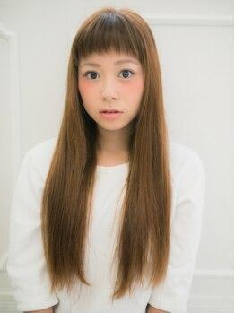 フロウ(Froh by Anphi)の写真/ツヤ感UPのストレートヘアはいつだって《女子のアコガレ&モテ王道♪》前髪・顔回りのみの部分施術もOK★