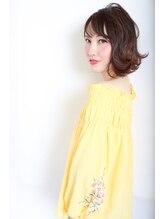 リジェール 黒川店【大人の女性】ベージュブラウン×スウィングカール