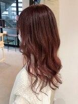 秋っぽ艶髪オレンジブラウン(ブリーチなし)