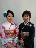 母と娘で艶やかな着物姿★