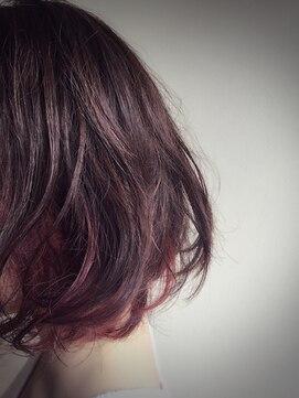 クブヘアー(kubu hair)《Kubuhair》ピンク インナーカラー☆デザインカラー☆