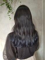 テトヘアー(teto hair)グラデーション ネイビー ブルーブラック 韓国スタイル 韓国