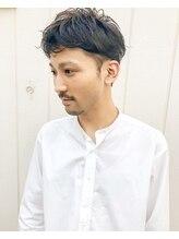 フルール(hair place Fleur)2ブロックパーマ☆メンズショート