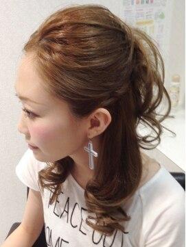 ヘアーサロン ジュエル(Hair Salon JEWEL)オールバックハーフアップ