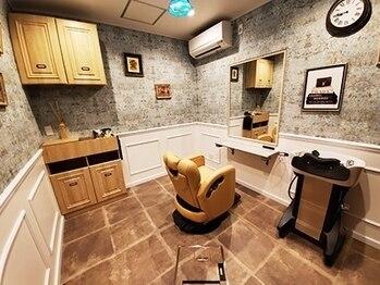アンフィ 南町田(Anphi)の写真/【大人気★】カット+オーガニックカラー¥6200♪個室つきのプライベート空間で周りを気にせず過ごせます☆