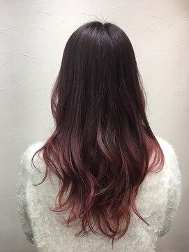 ヘアーアンドメイク ポッシュ 根岸店(HAIR&MAKE POSH)艶ピンクグラデーションカラー
