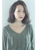 暗髪カラー甘めバングのパーマセミディ【BLONDIE 2012-13 A/W】