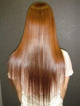 """美容室 ローテローゼの写真/褒められる""""ツヤ満ち溢れる綺麗な髪""""に―…。秘密はコラーゲンやシルクを髪に入れ込むPiPiトリートメント!"""