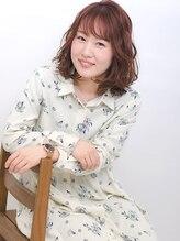 アビーヘアー 西大島店(abie hair)桜ピンクミディ