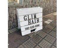 グリムヘアー(GLIM hair)の雰囲気(こちらの看板が目印です!そのまま砂利道の奥にあります♪)