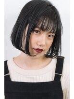 1001ミル ヘアーメイク プラス カフェ(1001 mille hairmake+cafe)秋カラーの艶ボブ