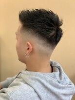 短髪 フェード