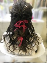 ヘアメイク シンティア(Hair make Cintia.)編み込みアレンジハーフアップ