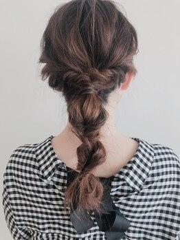 ヘア ミール(hair mirle)の写真/【宝木本町】スピーディなのに崩れにくい◎人気の抜け感Style~シンプルな普段使いのアレンジまでお任せ☆
