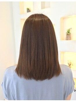 オクト(octo)の写真/あなたの理想のストレートヘアに☆クセ毛レベルに合わせた、なりたいスタイルをご提案します♪