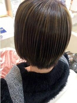 ギヴ 玉造店(Give)の写真/大人女性の髪のお悩みも‥ダメージレスにツヤ髪が叶う◇落ち着いた大人カラーも自然な仕上がりに―