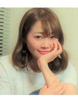ヘアアンドネイル アンカー(hair&nail anchor)シフォンベージュ×ひし形シルエットロブ☆