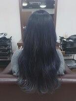 アールピクシー(Hair Work's r.Pixy)ネイビーブルーカラー