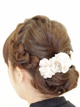 美容室 草の写真/【大切な日だからこそきれいな髪でいたい…】和装アップから洋装アップまで♪駅チカですてきヘアに変身★☆