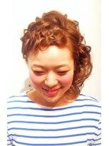 ヘア デザイン クリニック アンテナ(hair design clinic ANTENNA)編み込みカールアップ