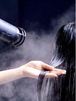 スタジオテオ(studio Teo)の写真/ナノスチームで潤いが1か月以上続く!!更にプレトリートメントと合わせてハリ・コシのあるみずみずしい髪に