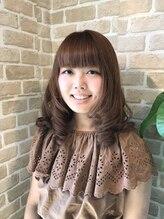 ヘアーオブジェ 末広店(Hair OBJET)ピンクベージュの巻き髪スタイル