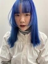 ヌープヘアーアイス(NUUP.hair ici)アイスブルー×ロングウルフ