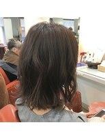 ヘアー コパイン(HAIR COPAIN)[熊本/中央区/上通り/並木坂] 外ハネゆるふわボブ