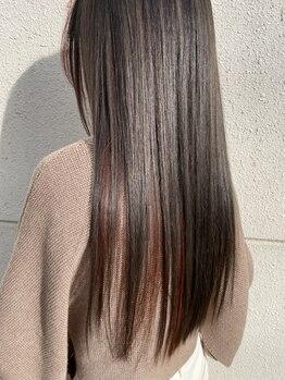 ヘアーデザイン ディードット(Hair design D.)の写真/【宇都宮】傷みを抑えたストレートに感動♪《髪質改善》に特化した自然なモテ髪ストレートstyleが手に入る