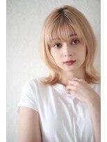 クレドガーデン 浦和店(CRED GARDEN)ペールカラー/ミルクティー/外ハネミディ