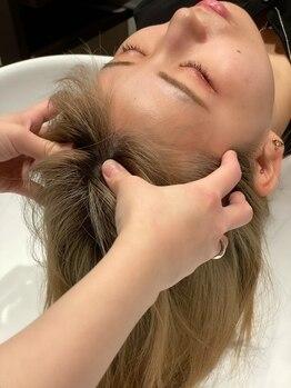 ヘアースペース ミツオ(hair space MITSUO)の写真/極上のリラクゼーションを、ホテル内のラクジュアリー感の空間で癒しの時間をご堪能下さい♪