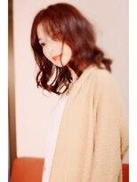 ココロ(HAIR CoCoro relaxation)くしゅっと波ウェーブ風&アプリコットブラウン☆