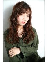 シエン(CIEN by ar hair)*CIEN by arhair杉本希*艶ブラウン×ウェービーロング