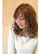 ヘアドレッサー ミアン(HAIRDRESSER MIEN)ラフ&色っぽくミディアムレイヤー【稲毛】