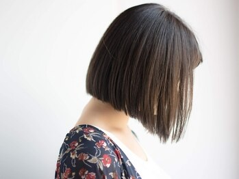 """ヘアードゥ レディバグ 八木店(HAIR DO LADY BUG)の写真/悩めるくせ毛は""""LADY BUG""""におまかせ!!低温でダメージを抑えて、自然なサラ艶ストレートに仕上がる♪"""
