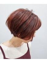 エイム ヘアメイク 横川店(eim HAIR MAKE)ベリーピンク×ミニボブ