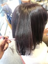 ensue京都○艶カラー赤髪暖色系カラーモテカラー20代30代○ayame