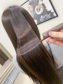 """ヘア レイシー(Hair recit)の写真/髪質に合わせた""""アナタだけ""""の《オートクチュールトリートメント》をご提供◇驚くほどの手触りに♪"""