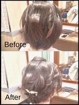 秋葉原コットン ヘアセット専門店ショートヘアのアップスタイル