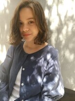 クオリア(QUOLIA)女性らしさup!ミディアムボブパーマヘアスタイル