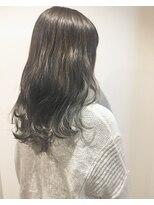 ヘアメイク オブジェ(hair make objet)暗くても透けるグレージュカラー
